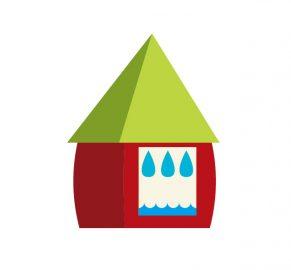 漏水した家の画像